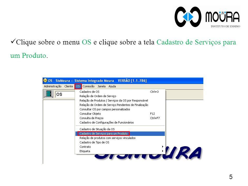 16 O serviço será incluso automaticamente na grade de serviços.