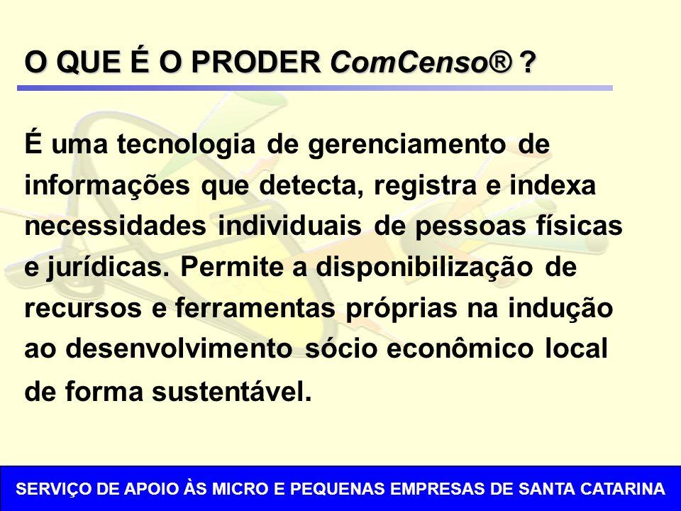 O QUE É O PRODER ComCenso® .