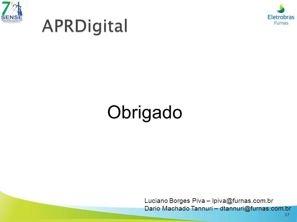 Obrigado Luciano Borges Piva – lpiva@furnas.com.br Dario Machado Tannuri – dtannuri@furnas.com.br 37