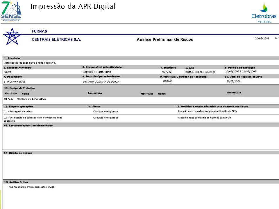 Edição / Encerramento APR-Digital Pode-se Editar uma APR – Analise Preliminar de Risco depois de pronta: Antes de Liberar para DDS, como depois de Liberada para DDS.