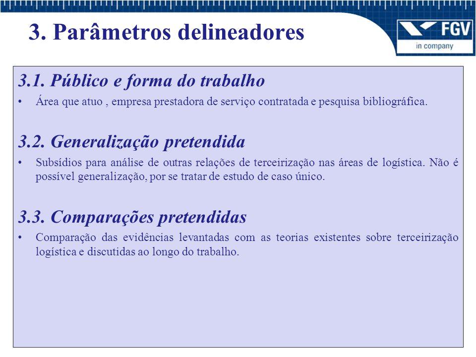 3.Parâmetros delineadores 3.1.