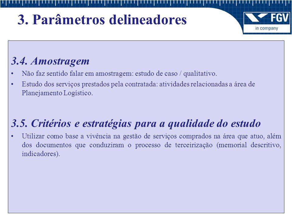 3.Parâmetros delineadores 3.6.