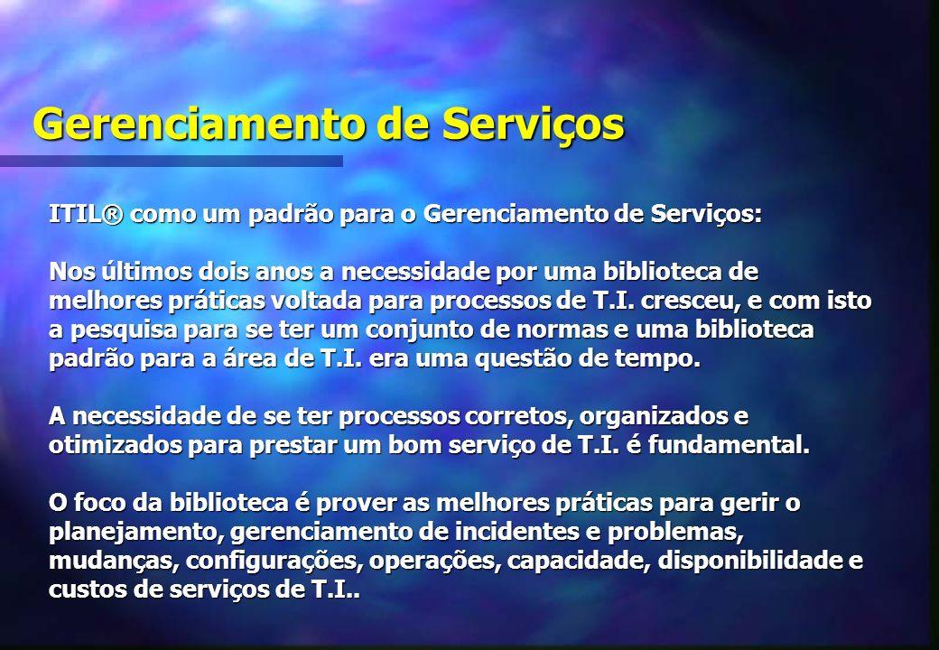 Gerenciamento de Serviços ITIL® como um padrão para o Gerenciamento de Serviços: Nos últimos dois anos a necessidade por uma biblioteca de melhores práticas voltada para processos de T.I.