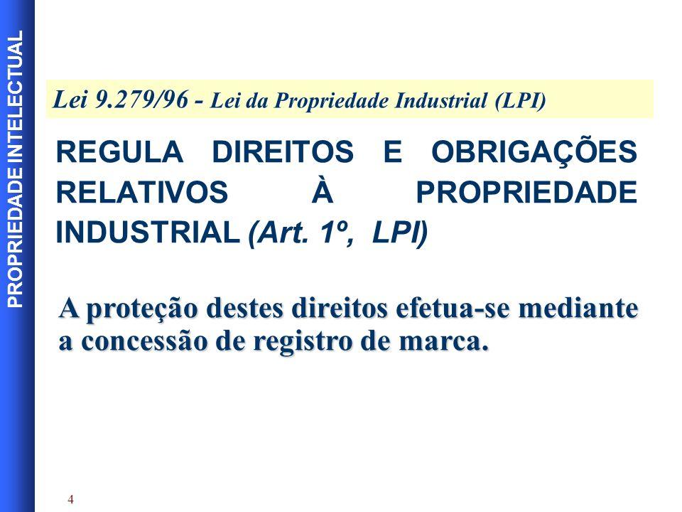 PROPRIEDADE INTELECTUAL 5 Sinais distintivos visualmente perceptíveis, não compreendidos nas proibições legais.