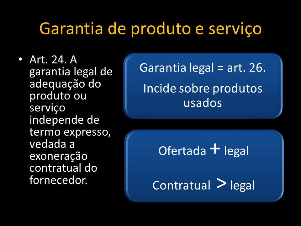 Garantia de produto e serviço Art.24.