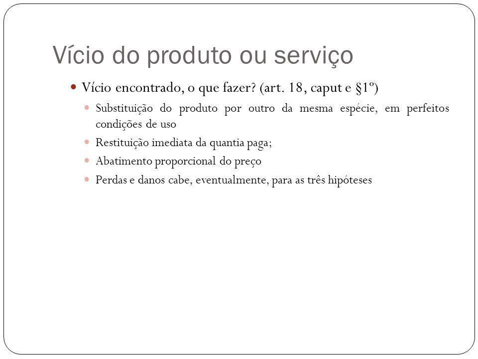 Vício do produto ou serviço Vício encontrado, o que fazer.