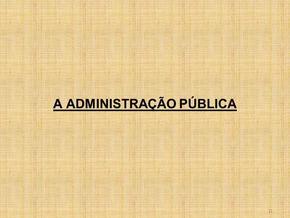 11 A ADMINISTRAÇÃO PÚBLICA