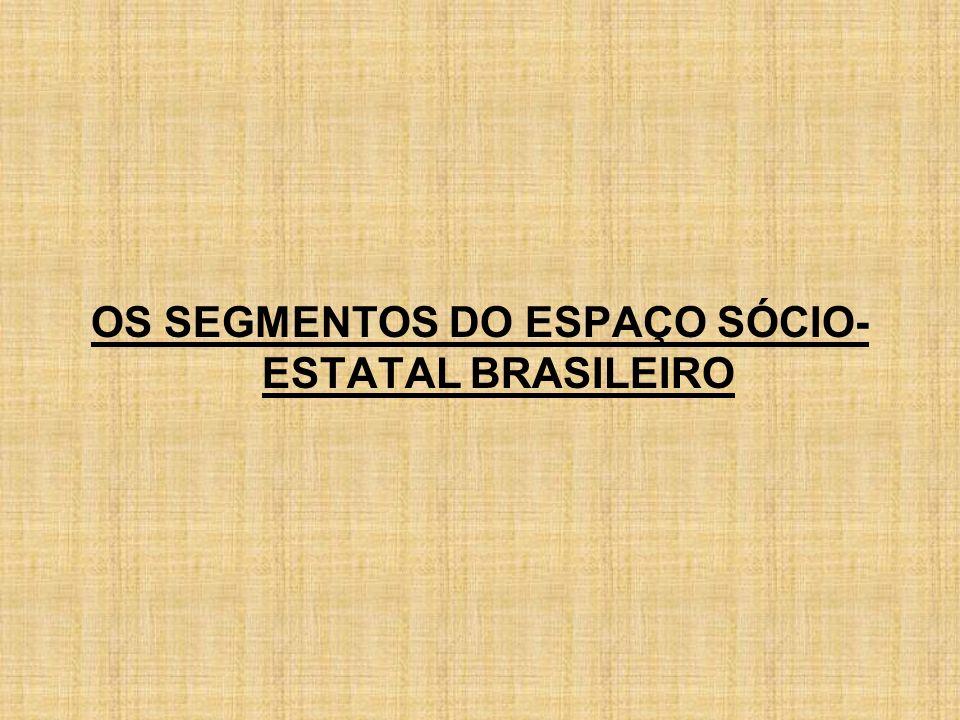 OS SEGMENTOS DO ESPAÇO SÓCIO- ESTATAL BRASILEIRO