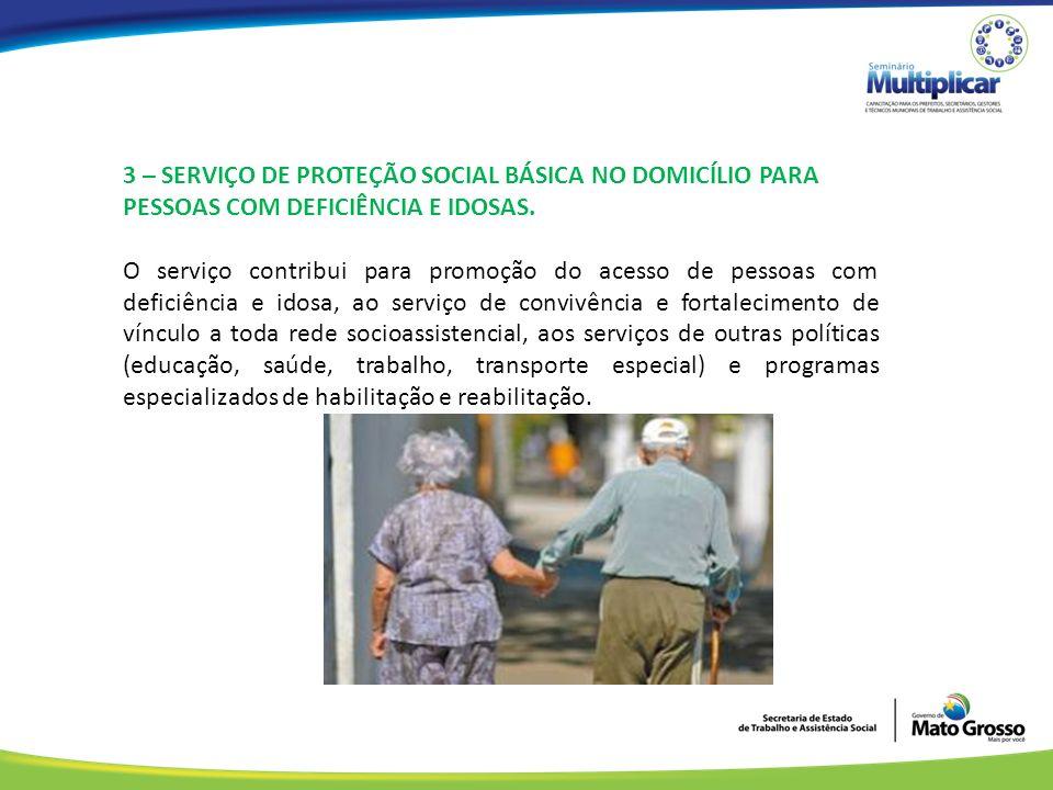 3 – SERVIÇO DE PROTEÇÃO SOCIAL BÁSICA NO DOMICÍLIO PARA PESSOAS COM DEFICIÊNCIA E IDOSAS.