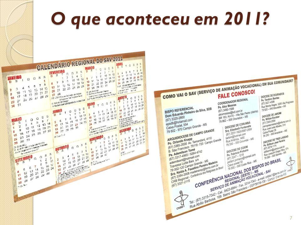 O que aconteceu em 2011? 7