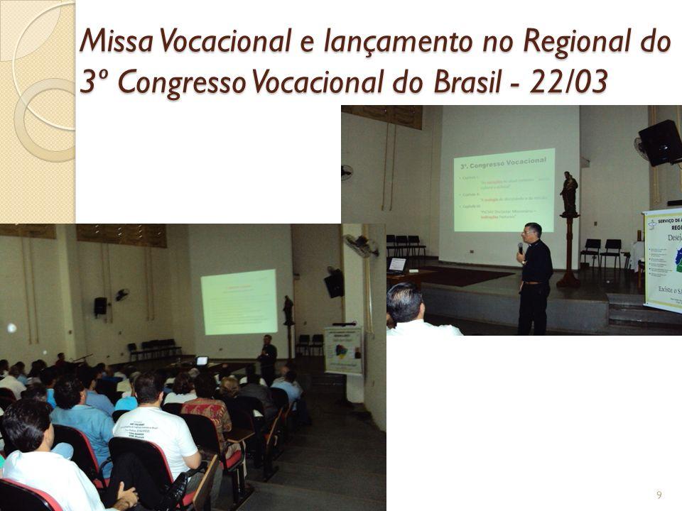 CALENDÁRIO DE ATIVIDADES 14/02 – 09h - Reunião da Coordenação Regional do SAV em Campo Grande.