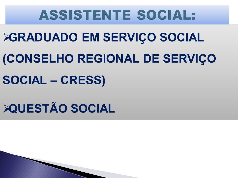 GRADUADO EM SERVIÇO SOCIAL (CONSELHO REGIONAL DE SERVIÇO SOCIAL – CRESS) QUESTÃO SOCIAL