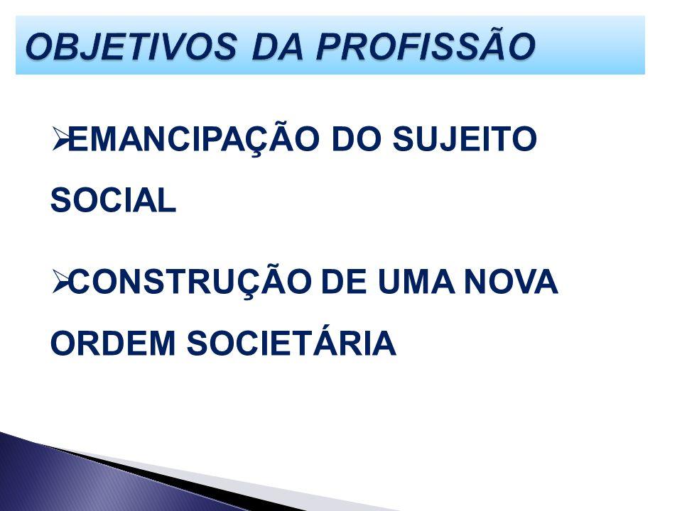 EMANCIPAÇÃO DO SUJEITO SOCIAL CONSTRUÇÃO DE UMA NOVA ORDEM SOCIETÁRIA