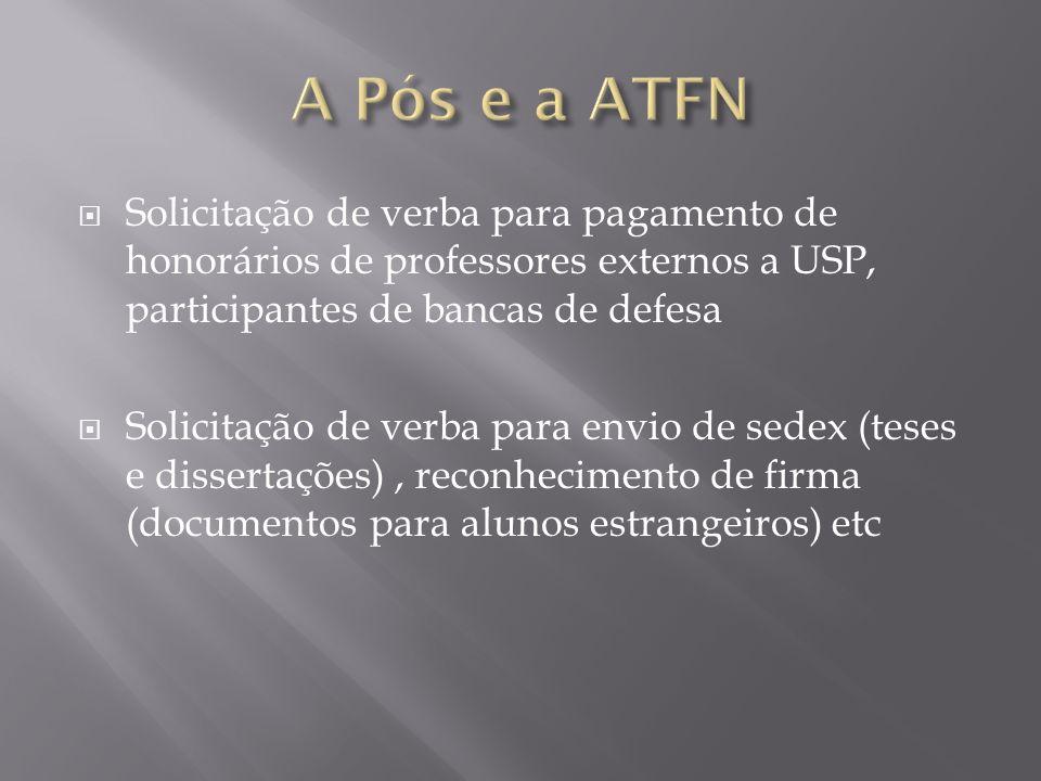 Solicitação de pagamento de honorários de professores da USP, que participaram de bancas julgadoras de defesa de Mestrado e Doutorado.