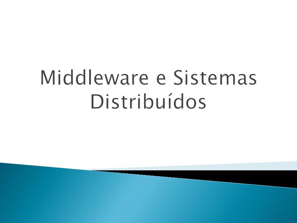 Middleware Transacional Suporte a transações síncronas Coordena requisições entre clientes e servidores Pode suportar as propriedades ACID