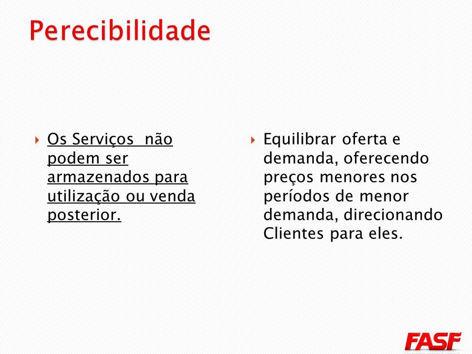 Os Serviços não podem ser armazenados para utilização ou venda posterior.
