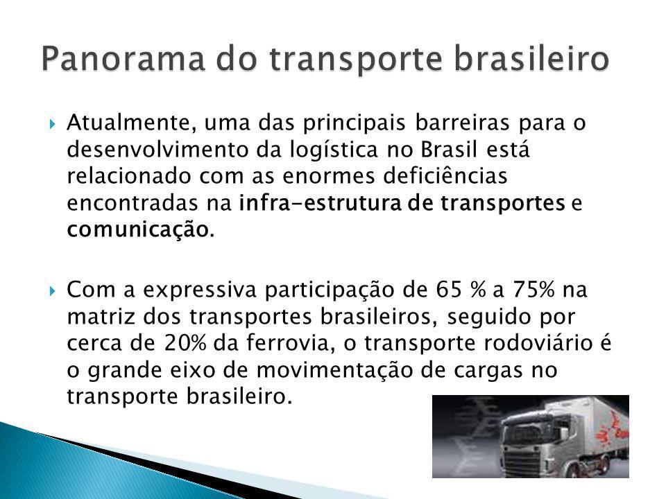 Atualmente, uma das principais barreiras para o desenvolvimento da logística no Brasil está relacionado com as enormes deficiências encontradas na inf