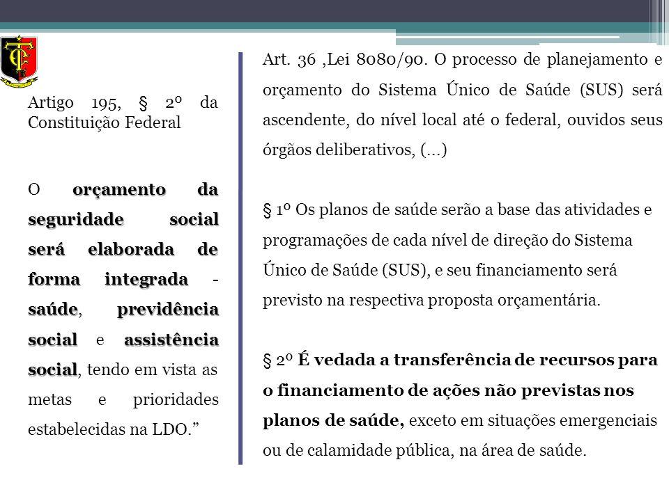 Artigo 195, § 2º da Constituição Federal orçamento da seguridade social será elaborada de forma integrada saúdeprevidência social assistência social O