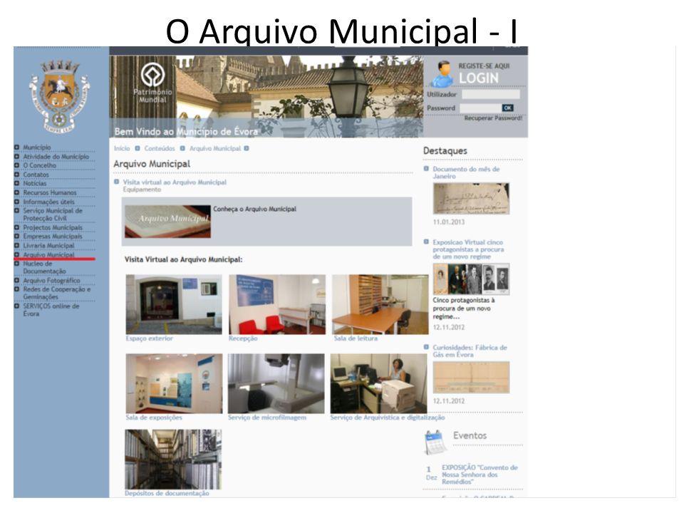 O Arquivo Municipal - I