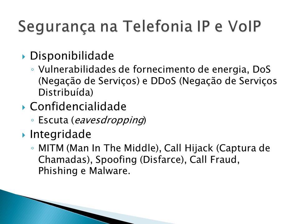 SIP Bombing: é um ataque tipo DoS no qual uma grande quantidade de mensagens VoIP modificadas são bombardeadas contra algum dos componente da rede SIP.