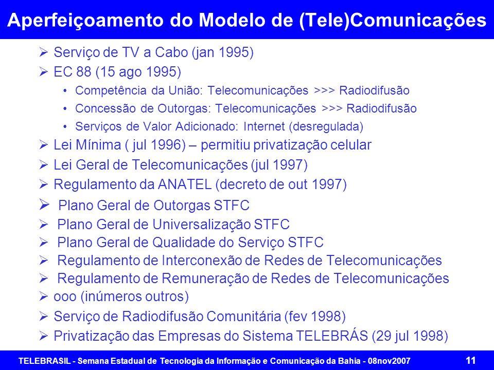 TELEBRASIL - Semana Estadual de Tecnologia da Informação e Comunicação da Bahia - 08nov2007 10 Mudança de Paradigma na Prestação de Serviços