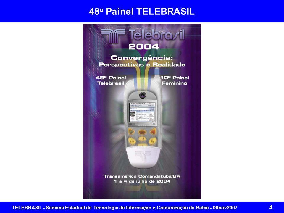 TELEBRASIL - Semana Estadual de Tecnologia da Informação e Comunicação da Bahia - 08nov2007 64 Brasil Digital: Agenda para um Projeto Comum