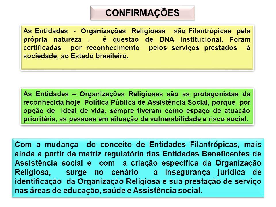 IDADEIDADE Listando algumas Entidades Religiosas, conhecidas pela história e tempo de existência, identificamos a presença destas Instituições em todos os períodos históricos do Brasil.