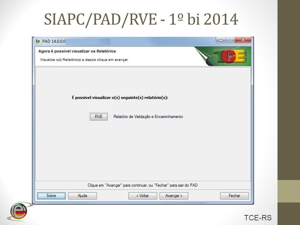 TCE-RS SIAPC/PAD/RVE - 1º bi 2014