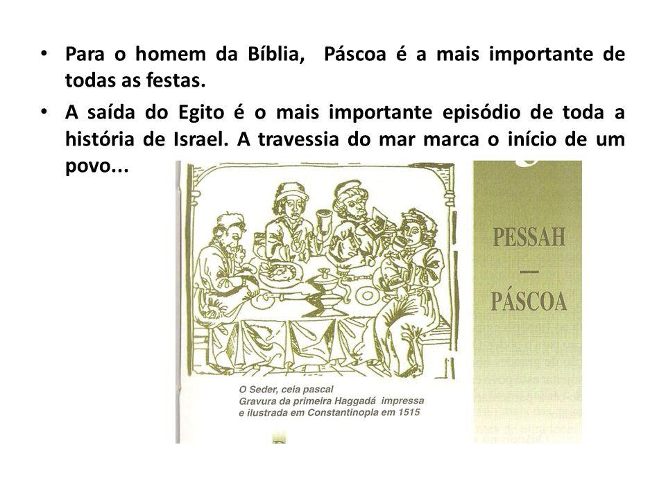 Para o homem da Bíblia, Páscoa é a mais importante de todas as festas. A saída do Egito é o mais importante episódio de toda a história de Israel. A t