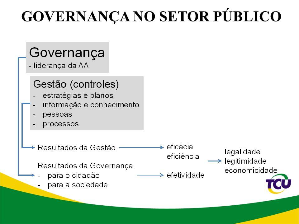 GOVERNANÇA NO SETOR PÚBLICO