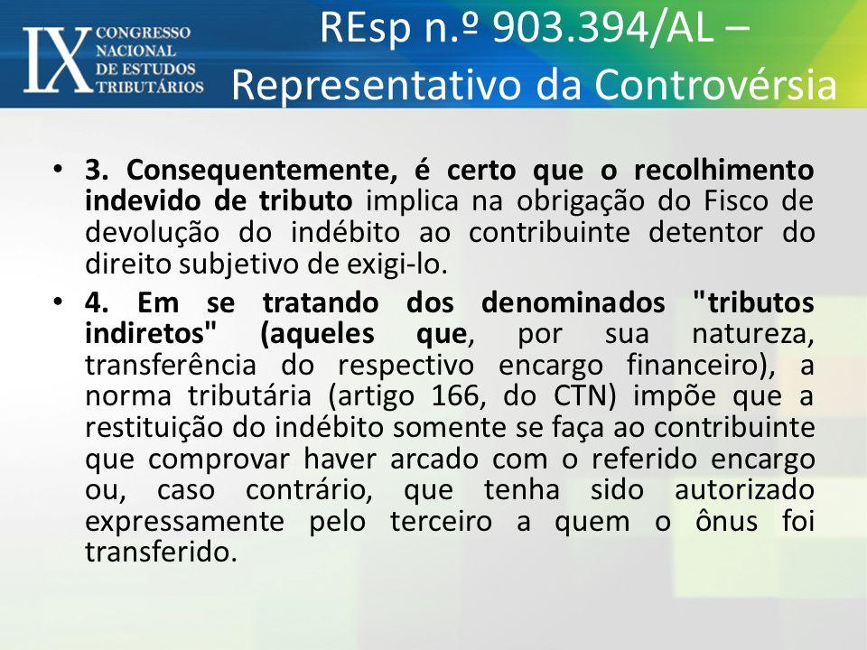 3. Consequentemente, é certo que o recolhimento indevido de tributo implica na obrigação do Fisco de devolução do indébito ao contribuinte detentor do