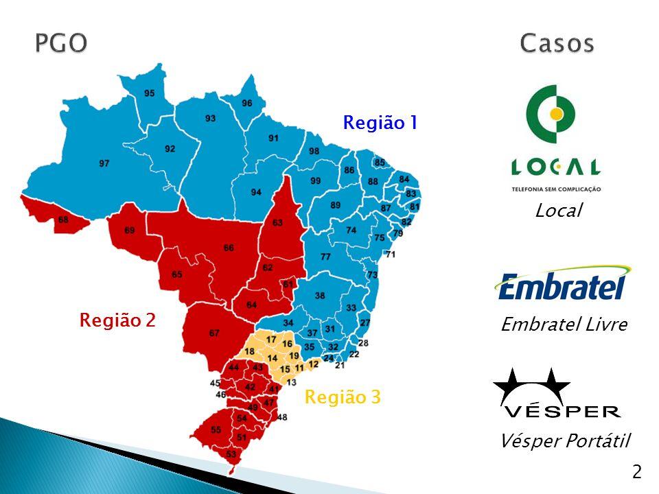 Região 3 Região 2 Região 1 2 Vésper Portátil Embratel Livre Local