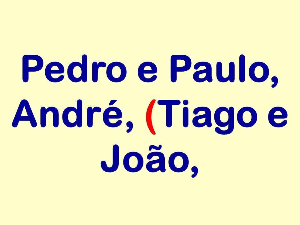 Pedro e Paulo, André, (Tiago e João,