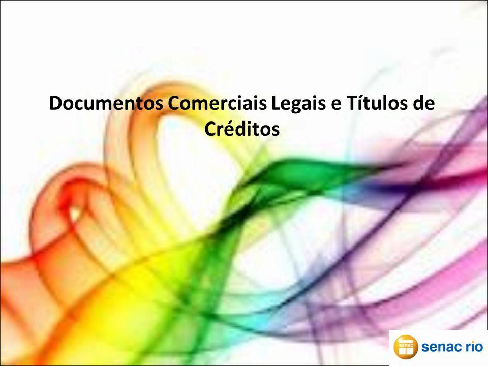 Documento Comerciais Legais Proposta comercial: Quando o cliente decide comprar algo, a loja procurada faz uma proposta ao comprador ( um orçamento).