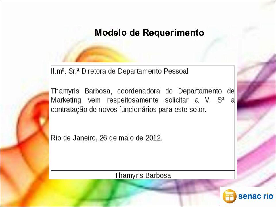 Modelo de Requerimento