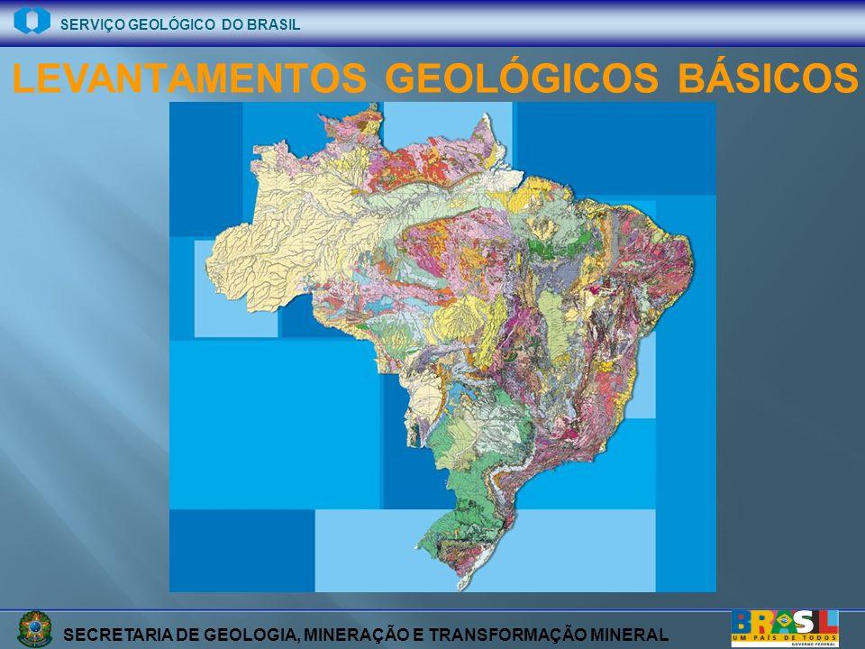 SECRETARIA DE GEOLOGIA, MINERAÇÃO E TRANSFORMAÇÃO MINERAL SERVIÇO GEOLÓGICO DO BRASIL Folhas 1:100.000 (242)) Folhas 1:250.000 (75) PROGRAMAÇÃO PPA Entre 2004 e 2007 serão gerados 317 mapas geológicos do País nas escalas 1:100.000 e 1:250:000.