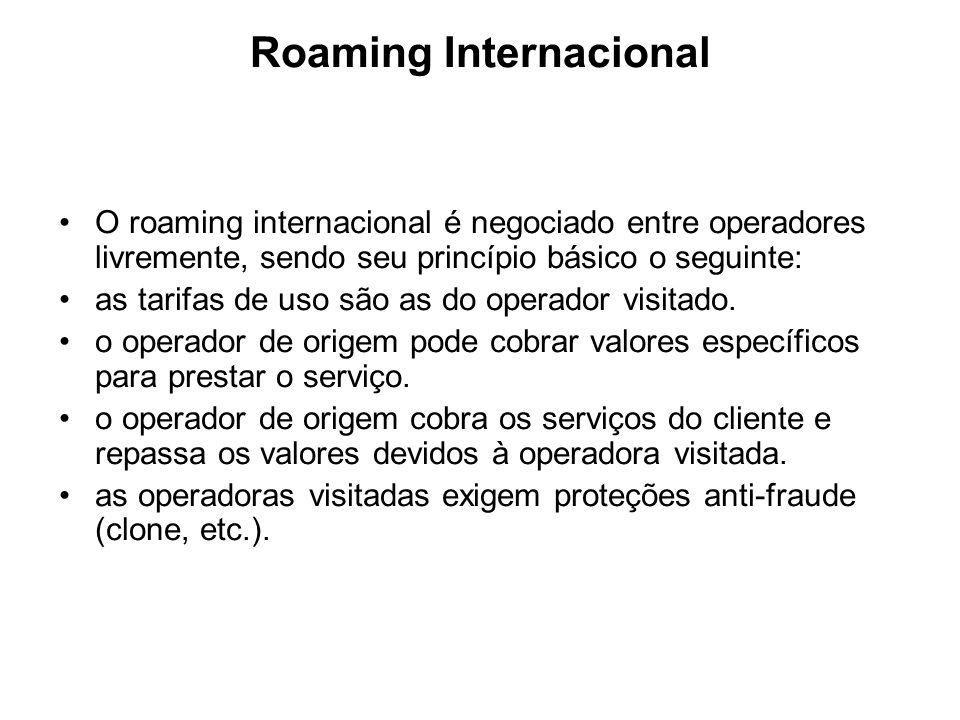 Roaming Internacional O roaming internacional é negociado entre operadores livremente, sendo seu princípio básico o seguinte: as tarifas de uso são as