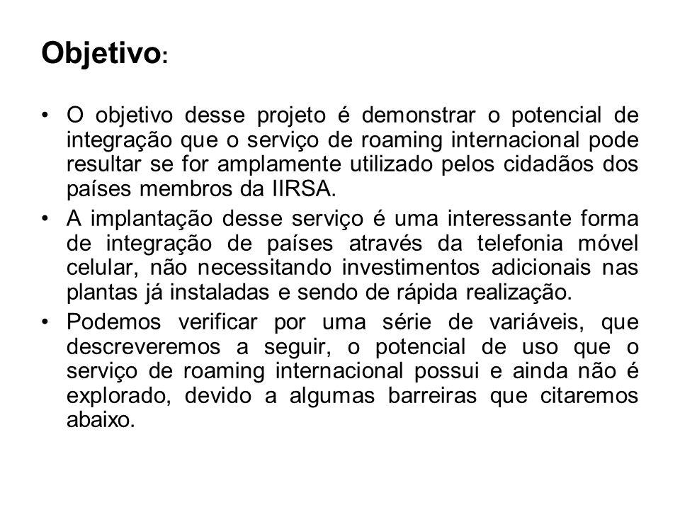 Potencialidades : O roaming na América do Sul é ainda bastante incipiente.