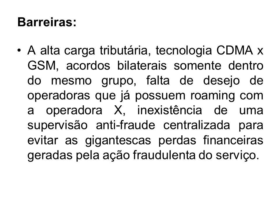 Serviço de Roaming Interpadrões O serviço de Roaming Interpadrões administrará a conversão de tarifas e sinalização na América do Sul e entre protocolos.