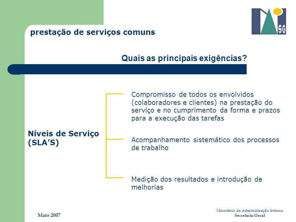 Acompanhamento sistemático dos processos de trabalho Medição dos resultados e introdução de melhorias Compromisso de todos os envolvidos (colaboradore