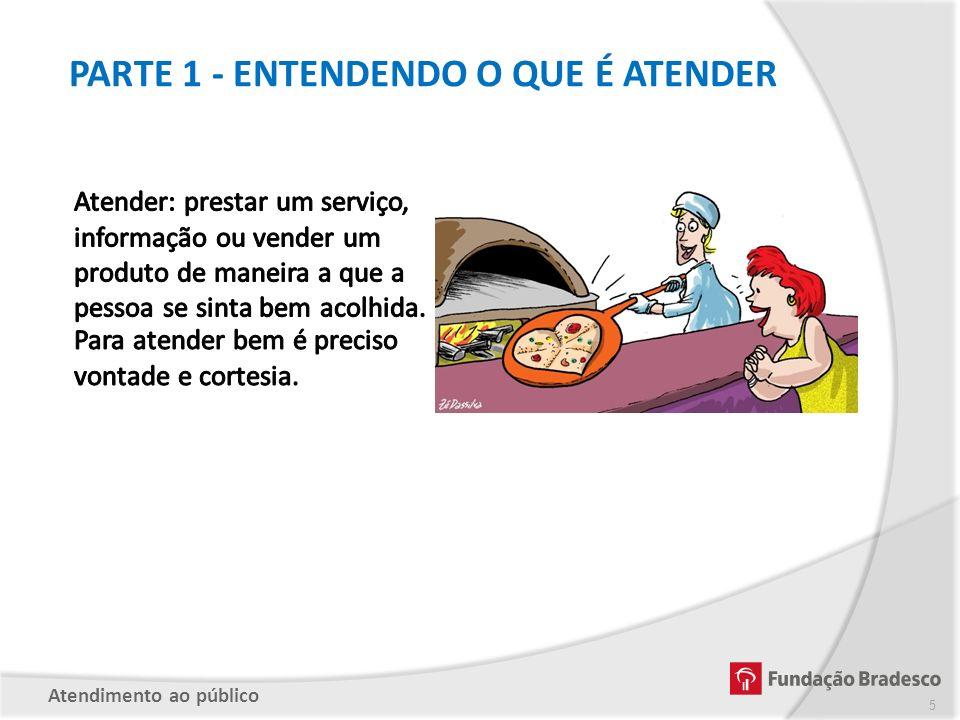 PARTE 1 - ENTENDENDO O QUE É ATENDER Atendimento ao público 5