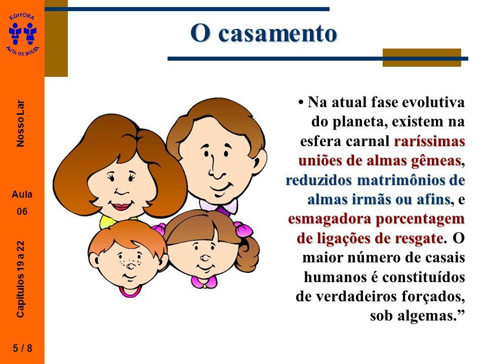 Nosso Lar Aula 06 Capítulos 19 a 22 O trabalho maternal 6 / 8 Quando o Ministério do Auxílio me confia crianças ao lar, minhas horas de serviço são contadas em dobro, o que lhe pode dar idéia da importância do serviço maternal no plano terreno.