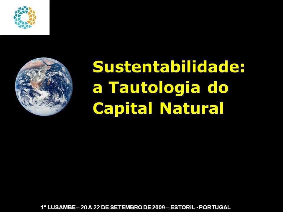 II FEAmbienta – FEA – USP- 03 a 05 DE NOVEMBRO DE 2008 O uso do capital natural como instrumento para definir sustentabilidade é tautológica (Stern, 1997).