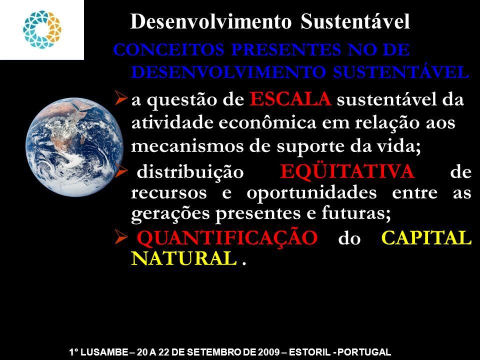 II FEAmbienta – FEA – USP- 03 a 05 DE NOVEMBRO DE 2008 Sustentabilidade SUSTENTABILIDADE : SOBREVIVÊNCIA OU PERSISTÊNCIA DE UM SISTEMA, COM CONDIÇÕES IGUAIS OU SUPERIORES.