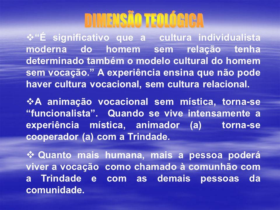 É significativo que a cultura individualista moderna do homem sem relação tenha determinado também o modelo cultural do homem sem vocação. A experiênc