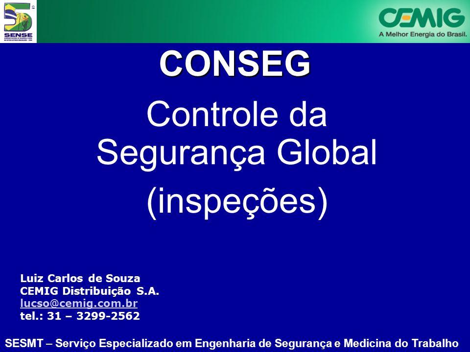 SESMT – Serviço Especializado em Engenharia de Segurança e Medicina do Trabalho Luiz Carlos de Souza CEMIG Distribuição S.A. lucso@cemig.com.br lucso@