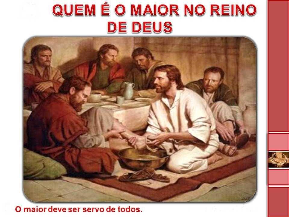 No Evangelho Jesus anuncia sua paixão e morte e dá a seus discípulos uma lição de humildade e serviço. Servir os pobres e as CRIANÇAS é servir o Senho