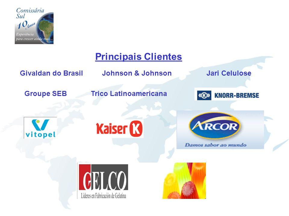 Principais Clientes Groupe SEB Jari Celulose Trico Latinoamericana Johnson & JohnsonGivaldan do Brasil