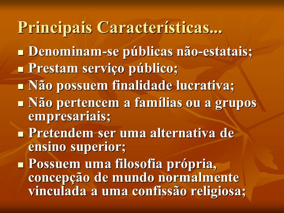 Principais Características...