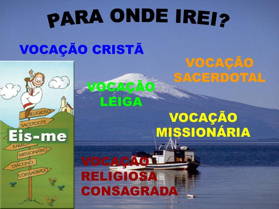 VOCAÇÃO LEIGA VOCAÇÃO SACERDOTAL VOCAÇÃO RELIGIOSA CONSAGRADA VOCAÇÃO MISSIONÁRIA VOCAÇÃO CRISTÃ